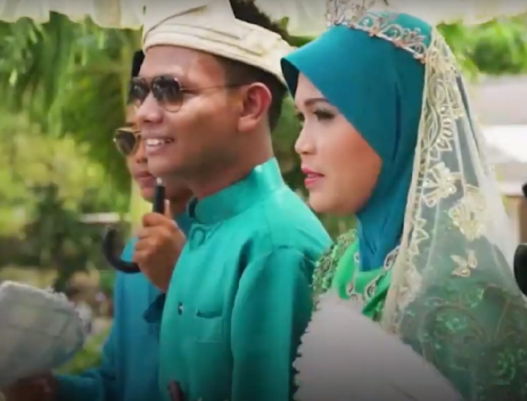 Pareja del sureste asiático en ceremonia de boda. Fotografía ilustrativa