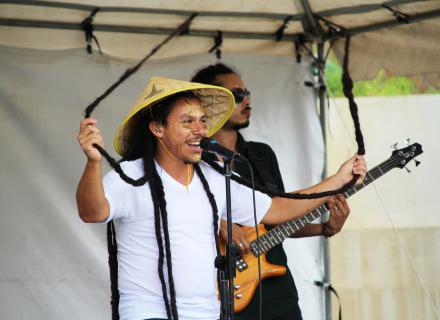 Banda Talawa Reggae Army en la presentación de La Fábula del León y del Coyote