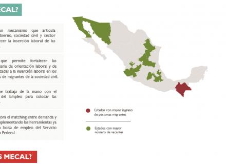 Mapa de México con zonas resaltadas en color