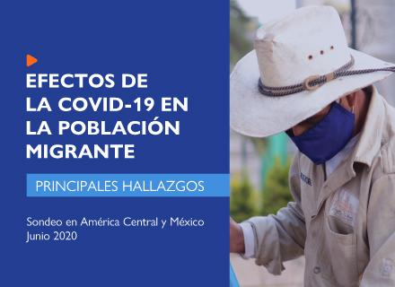 Hombre con sombrero y mascarilla en parque de Centroamérica. al lado, el título del estudio