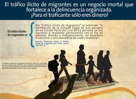 Infografía: El Tráfico ilícito de  migrantes es un negocio mortal