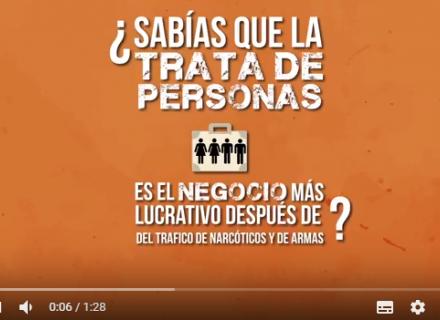 Video animado Trata de Personas