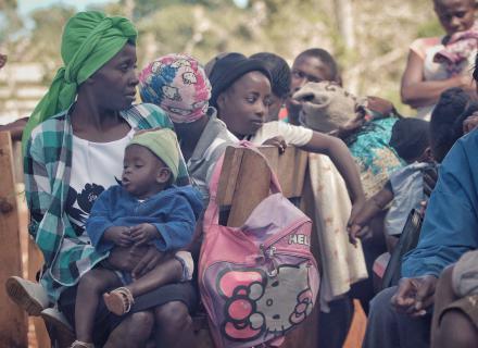 Haitian migrant women and children